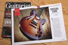 'Looking for a world-class semi-acoustic? head for Kent …' #Guitarist Magazine  January 2015 #Kent_UK_guitar