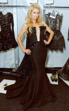 Paris Hilton from Stars at New York Fashion Week Spring 2015 Paris ups the glam factor at the Michael Costello show. Paris Hilton News, Michael Costello, Celebs, Celebrities, Spring Summer 2015, Woman Crush, Runway Fashion, New York, Formal Dresses