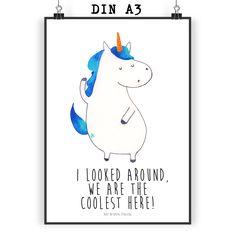 Poster DIN A3 Unicorn Mann mit Spruch aus Papier 160 Gramm  weiß - Das Original von Mr. & Mrs. Panda.  Jedes wunderschöne Poster aus dem Hause Mr. & Mrs. Panda ist mit Liebe handgezeichnet und entworfen. Wir liefern es sicher und schnell im Format DIN A3 zu dir nach Hause.    Über unser Motiv Unicorn Mann mit Spruch  Das selbstbewusste Einhorn ist das süßeste Geschenk, um der Freundin zu sagen, dass man ein cooles Team ist. Ob auf einer Party oder in der Schule, der Spruch funktioniert…