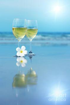 'Two glasses of white wine' Poster by MotHaiBaPhoto Dmitry & Olga Wein Poster, Wine News, Wine Photography, Wine Art, In Vino Veritas, Wine Time, Belle Photo, White Wine, Wine Glass