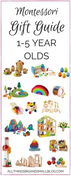 Montessori Gift Guide   Montessori Toys for 1 to 4 year olds   Beautiful toys for kids from All Things Big and Small