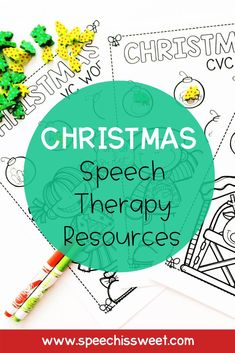 Looking for Christmas speech therapy activities and materials to use in your speech room? Check out these speech and language resources featuring Christmas themed book companions, speech and language packets, speech therapy crafts, articulation activities, and more! | Speech is Sweet Articulation Activities, Speech Therapy Activities, Language Activities, Speech Language Therapy, Speech And Language, Christmas Speech Therapy, Speech Room, Therapy Ideas, Book Themes