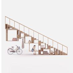 Деревянная лестница шкаф Пэк1 - wooden stairs wardrobe Pack1