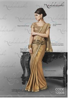 Nakkashi Exclusive beige Coloured Fancy Designer Saree