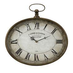 "Imax 16"" Vichy Iron Clock - Beyond the Rack"