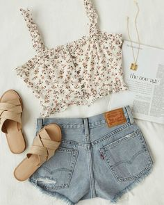 sundress season is here 🌼 shop the Strike a Posie white floral print backless skater dress, Tulum Trek tan heeled sandals, Port Costa tan… Cute Casual Outfits, Cute Summer Outfits, Girly Outfits, Mode Outfits, Stylish Outfits, Spring Outfits, Teen Fashion Outfits, Cute Fashion, Outfits For Teens
