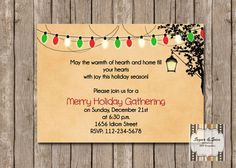 Christmas Party Invitation Hanging Lantern by SugSpcInvitations