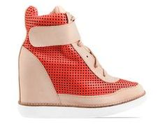Jeffrey Campbell Portici in Orange Beige at Solestruck.com - love these shoes... I want a pair...