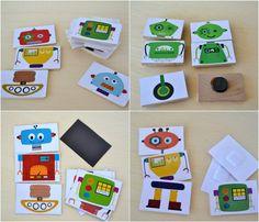 mix and match robot magnets