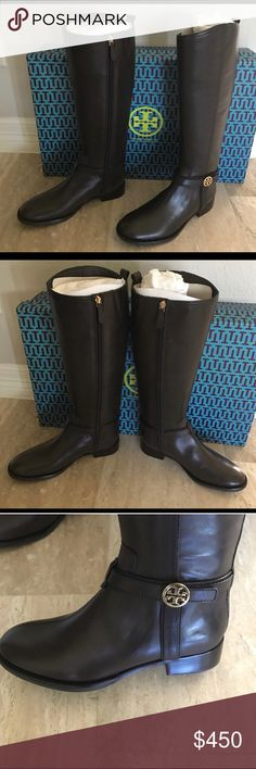 Tory Burch Dark Brown Boots Brand new never worn boots Tory Burch Shoes Winter & Rain Boots