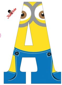 Typography - Minion Alphabet - Letter A Minion Birthday Banner, Minion Theme, My Minion, Boy Birthday, Despicable Me Party, Minion Party, Minion Classroom, Minion Craft, Minion Banana