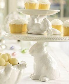 A hoppy way to display desserts.