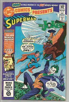 DC COMICS PRESENTS SUPERMAN and JOKER; WONDER WOMAN 16 PG Insert DC Comics 1982