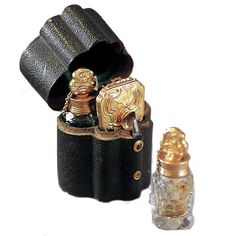 Perfume bottles with case - 18th century from http://fragonard.boutiquebuilder.com