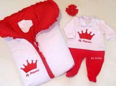 Saída De Maternidade Realeza Vermelho
