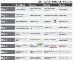 30 Day Meal Plan Eating Plan…click First Link Below For Recipes
