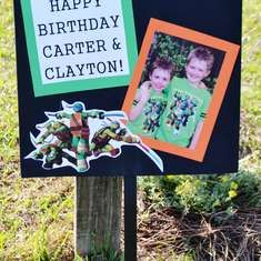 Carter & Clayton's Totally Awesome TMNT Birthday Party - Teenage Mutant Ninja Turtles