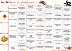 Menus au mois pour simplifier la tâche à la maison des idées de repas un mois
