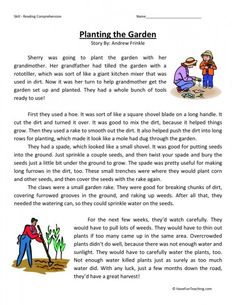 Comprehension-Worksheets provides reading comprehension worksheets for teachers, parents, and kids. These reading comprehension worksheets will help your kids read and comprehend. Comprehension Exercises, Reading Comprehension Worksheets, Reading Fluency, Reading Passages, Reading Strategies, Literacy Worksheets, English Stories For Kids, English Story, Learn English