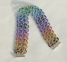Rainbow Niobium and Sterling Silver Japanese Lace by DaisiesChain, $130.00