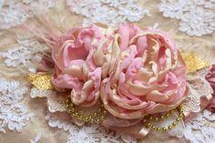 Double Flower Vintage Inspired Headband Over by AldonasBoutique,