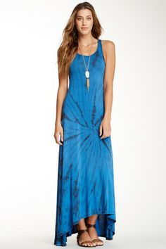 Tie-Dye Hi-Lo Dress by Go Couture on @HauteLook