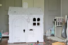 Cardboard house Birthday gift for kids