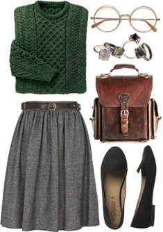 Minus the glasses, since I do not need them (still!) # Uses fashion - Moda y accesorios - Winter Style Mode Outfits, Fall Outfits, Fashion Outfits, Fashion Trends, Skirt Outfits For Winter, Geek Chic Outfits, Fashion Moda, Look Fashion, Womens Fashion