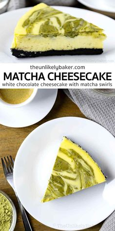 Green tea cheesecake is easy to make, delicious and it's great with coffee and yes, green tea! With white chocolate in the batter and an Oreo cookie crust, it's sure to become your new favourite green tea dessert. Click to get the recipe with lots of baking tips for making perfect cheesecake every time. Cupcake Recipes For Kids, Dump Cake Recipes, Coffee Recipes, Coffee Cake Recipe Bundt, Vanilla Pound Cake Recipe, Fun Desserts, Delicious Desserts, Dessert Recipes, Dessert Ideas