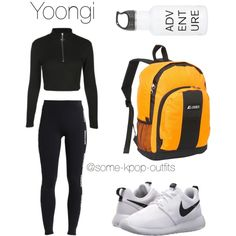 Hiking with Yoongi by some-kpop-outfits on Polyvore featuring polyvore, fashion, style, WithChic, Ivy Park, NIKE, Everest and clothing