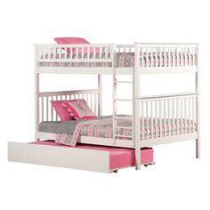 Atlantic Woodland Bunk Bed over with Urban Trundle Bed in