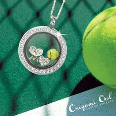 Tennis anyone? Get in touch with me to order! www.kreid.OrigamiOwl.com or locketsoflove@outlook.com