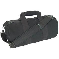 Amazon.com: Black Canvas Shoulder Duffle Roll Bag - 12 x 24 Travel/Recreational Carry Bag: Clothing
