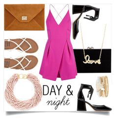 """""""DAY&NIGHT"""" by lizsatt ❤ liked on Polyvore featuring Charlotte Olympia, Topshop, Billabong, Marc Jacobs, Kenneth Jay Lane, Sydney Evan and River Island"""