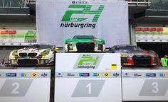 The first 3 of the #24hNurburgring 1. Audi Sport Team Land 2. Rowe Racing BMW 3. Audi Sport Team WRT #nring #nue… ift.tt/2rulETj
