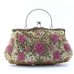 Handmade beaded bag handbag bead embroidered retro bride wedding Vintage  Purses dc1cab32dbfc
