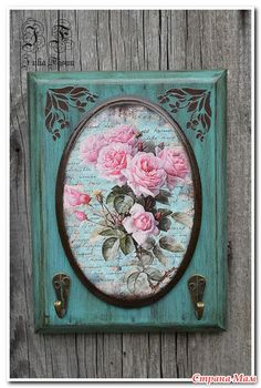 Fabric Painting, Painting On Wood, Diy Craft Projects, Diy And Crafts, Glue Art, Barn Wood Crafts, Shabby Chic Farmhouse, Decoupage Vintage, Altered Art