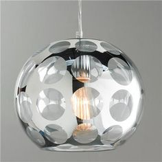 Mirrored Dot Bubble Pendant Light - Small (=)