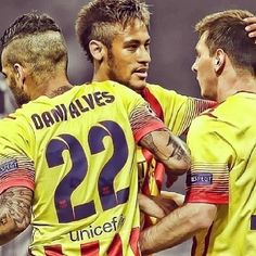 Messi, Neymar and Dani Alves FC Barcelona