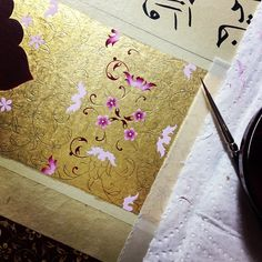 Work in progress #illumination #design #calligraphy #gold #art #artwork #mywork #handmade #islamicart #istanbul #turkey