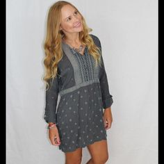 Cuff sleeve tunic This embriodered tunic from Johnny Was embraces romantic bohemian style. Cut for a relaxed fit and featuring an intricate trim front with long tabbed sleeves.  This versatile piece can be layered with a slip and worn as a tunic or paired with skinny jeans and heels for a polished yet casual look. 100% rayon, machine wash cold and tumble dry low.  This item is NWT retail and has never been sold before, perfect condition. No trades so please don't ask  Johnny Was Tops Tunics