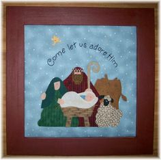 Christmas Nativities at Patchwork & Paint