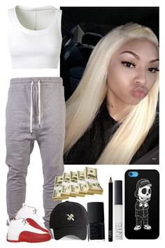 """At this party .. //PrincessCece👑🍭"" by xglodollx ❤ liked on Polyvore featuring I Love Ugly, Alaïa, Tribes, NARS Cosmetics and 21 Men"