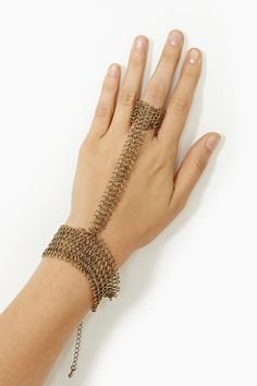 Chainmail Handpiece in Accessories Jewelry Bracelets at Nasty Gal