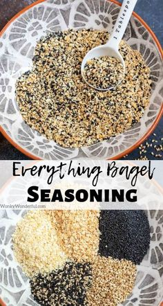 Make homemade Everything But The Bagel Seasoning so that you always have it on hand. This Everything Bagel Seasoning Recipe is inspired by the Trader Joe's seasoning and taste fantastic on so many dishes. Homemade Bagels, Homemade Spices, Homemade Seasonings, Seasoning Recipe, Seasoning Mixes, Trader Joe's, Sauces, Bagel Recipe, Tasty