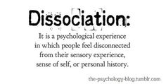 "Dissociation is natural-- we all do it.  It ranges from day-dreaming and being, ""in the zone"" to acute stress/crisis response, to Dissociative Identity Disorder.  Obviously a little is OK, but more and more can be problematic for living a healthy life; give yourself permission to dissociate sometimes, but try to lessen it-- BE PRESENT!"
