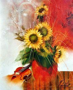 Raymond Poulet Rubrics, Flowers, Painting, Art, Dance, Blue Prints, Chicken, Paint, Art Background