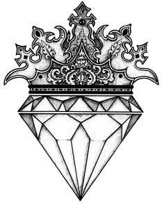 The diamond drawing ideas on tattoos jpg 2 - Clipartix diamond drawing - Drawing Tips Mini Tattoos, Body Art Tattoos, New Tattoos, Tattoo Drawings, Sleeve Tattoos, Tattoos For Guys, Art Drawings, Diamond Tattoo Designs, Crown Tattoo Design