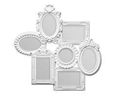 Multi-Bilderrahmen Lory, weiß, B 55 cm