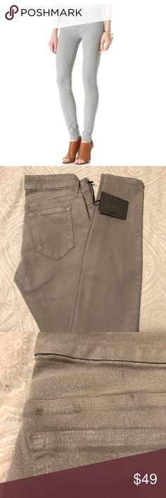 🎉HP! Koral Coated Gray Skinny Jeans Gorgeous super skinny gray coated jeans with a slight sheen to them. NWT, tiny spot on the back above the pocket. Brand is frequently sold at Anthropologie but I dont know if this style was, marked for exposure. Host pick for Best in Jeans March 27! 🎉 Anthropologie Jeans Skinny